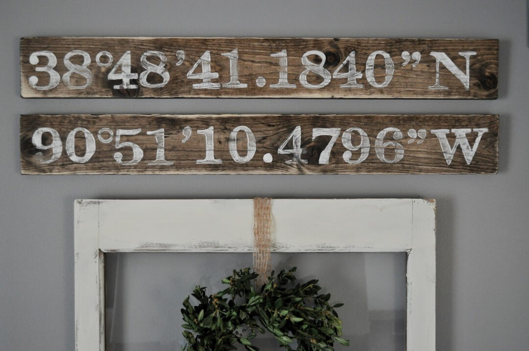 Little Glass Jar Longitude & Latitude Sign