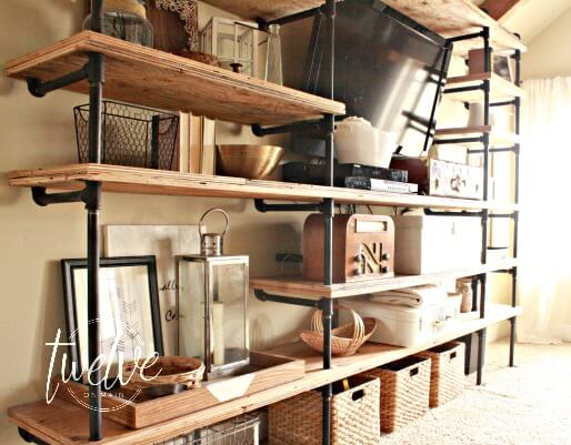 DIY Industrial Pipe Shelves. Use Your Imagination To Come Up With Any  Configuration. There