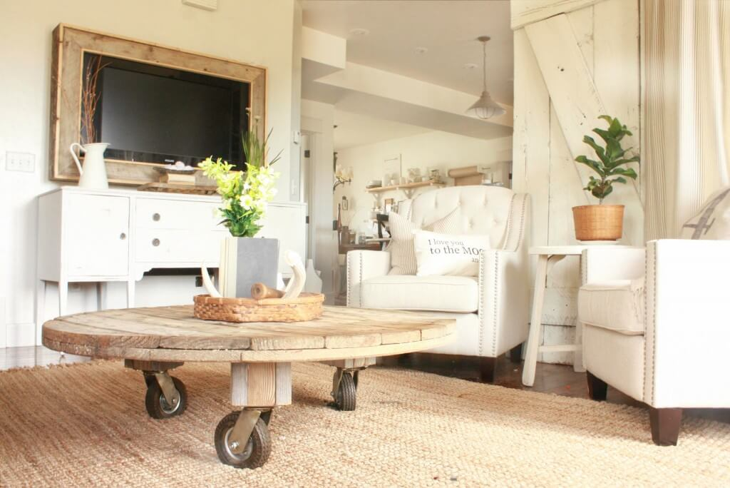 Outstanding Diy Wire Spool Coffee Table Twelve On Main Caraccident5 Cool Chair Designs And Ideas Caraccident5Info