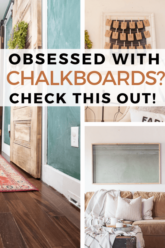 How to use a chalkboard in your home in so many ways!