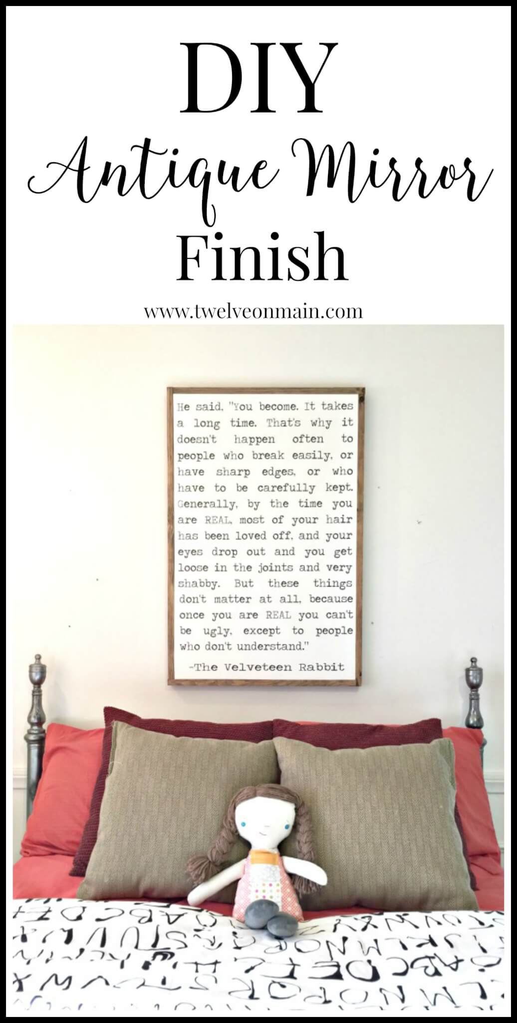 Creating this DIY antique mirror finish is so easy and its a great way to transform and refresh old furniture. |Twelveonmain.com