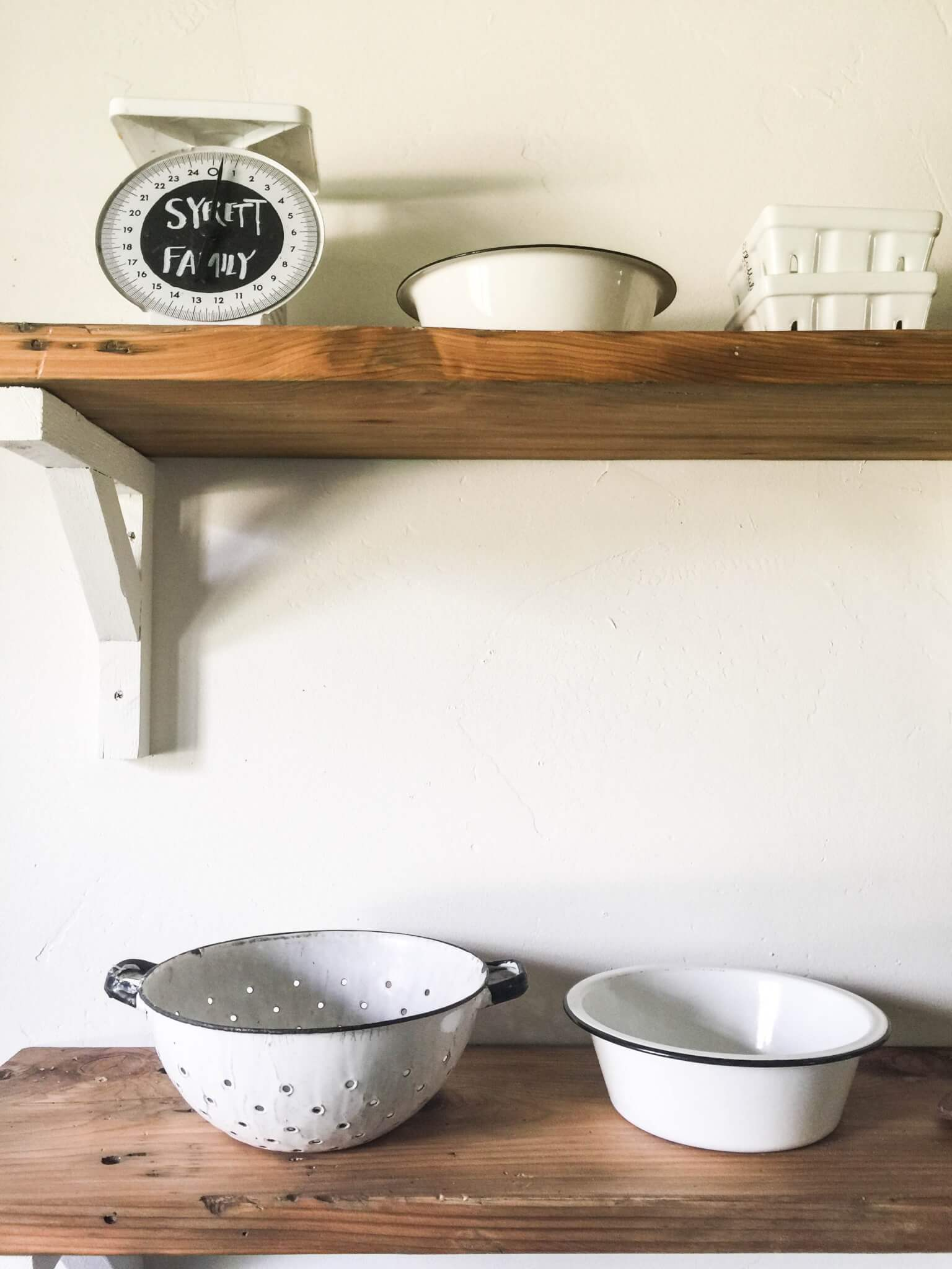 DIY Farmhouse shelves.