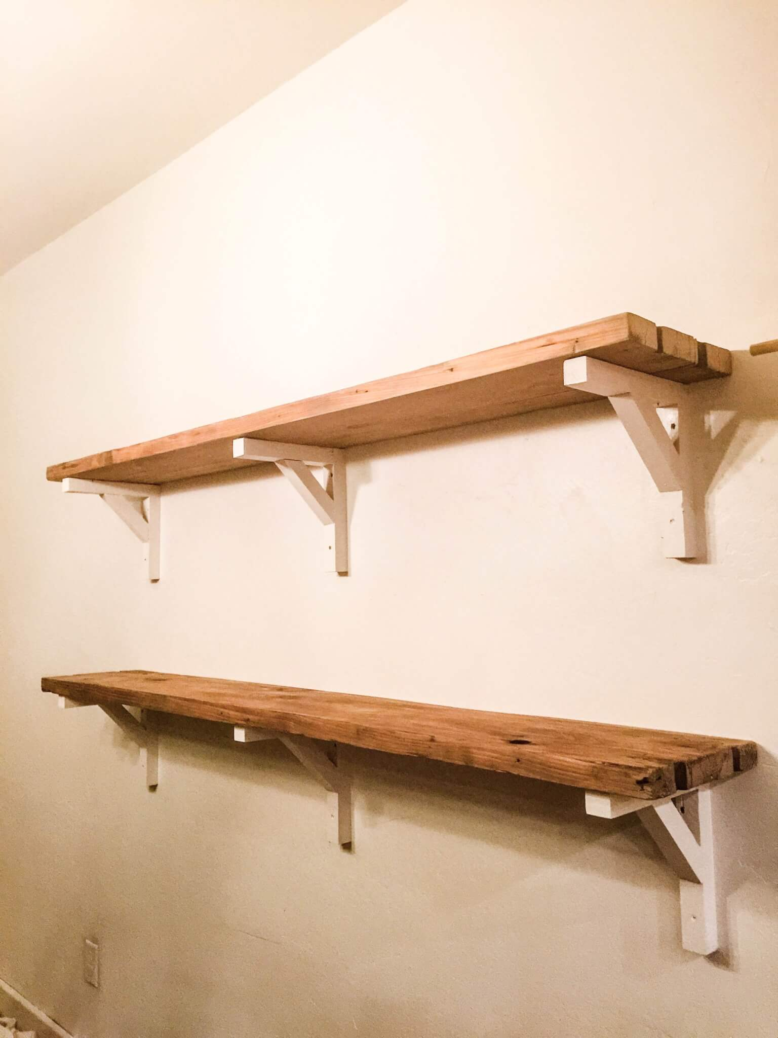 How I Built Reclaimed Wood Shelves