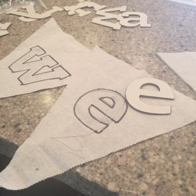 Stenciling Fall Banner