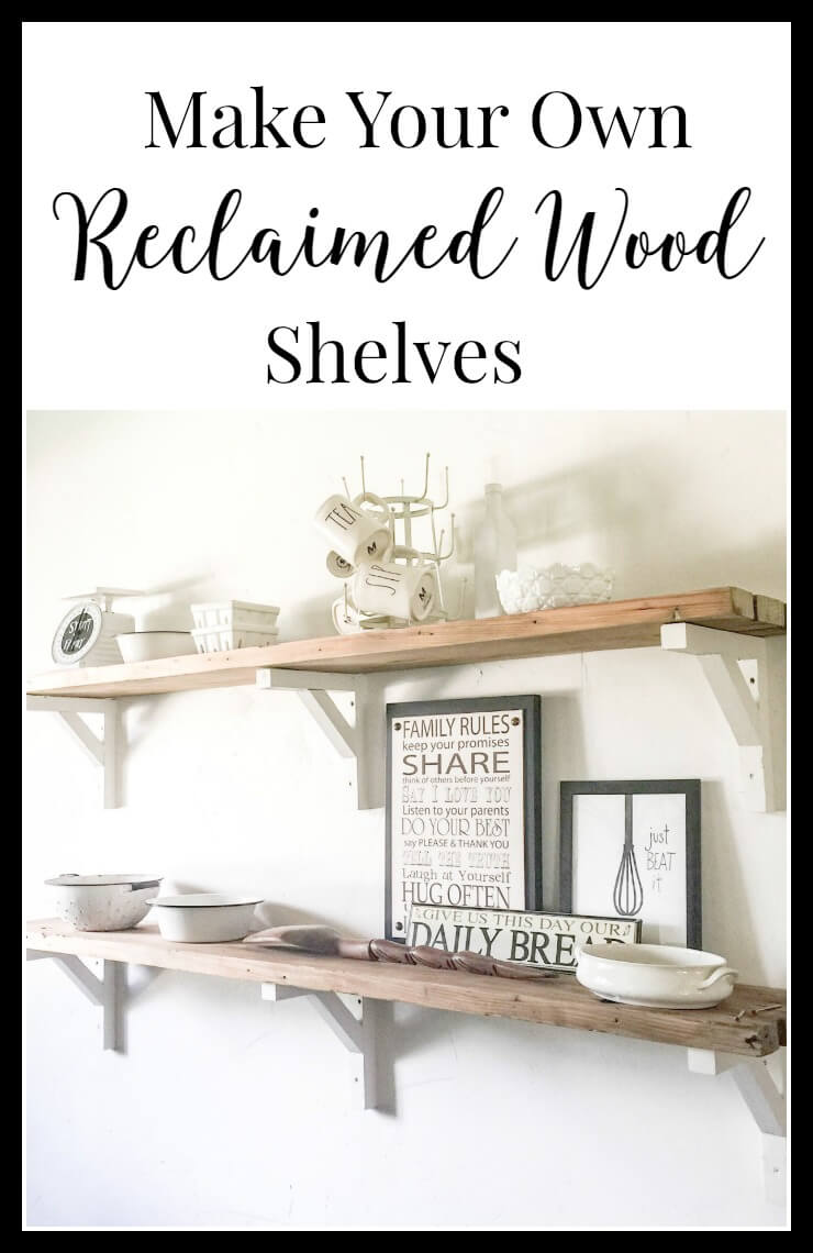 Make your own reclaimed wood shelves, with step by step instructions it is easier than you think. | Twelveonmain.com