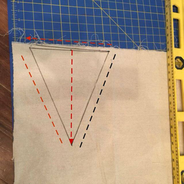Cutting out bunting