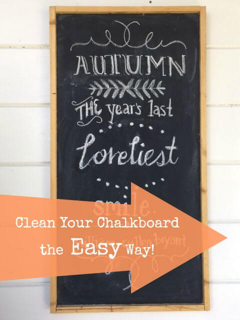 Clean Your Chalkboard the Easy Way