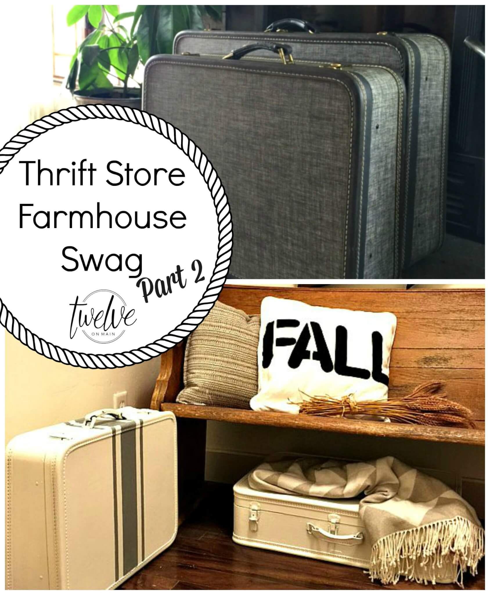Thrift Store Farmhouse Swag
