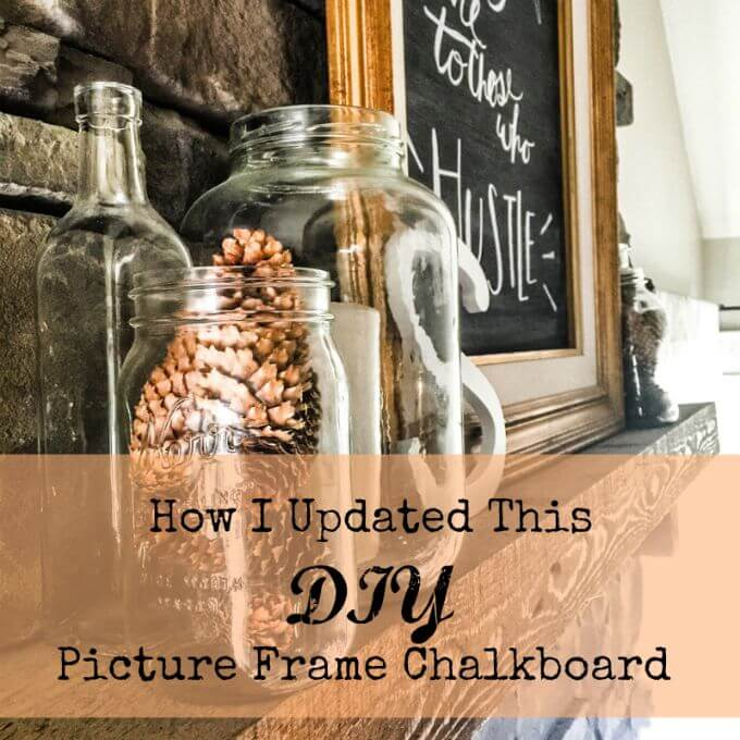 Framed Chalkboard Gets A Farmhouse Update