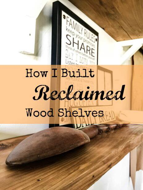 Reclaimed Wood Shelves Built In No Time!