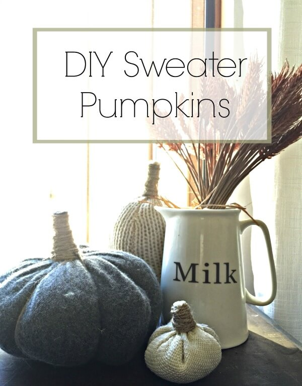 DIY Sweater Pumpkin