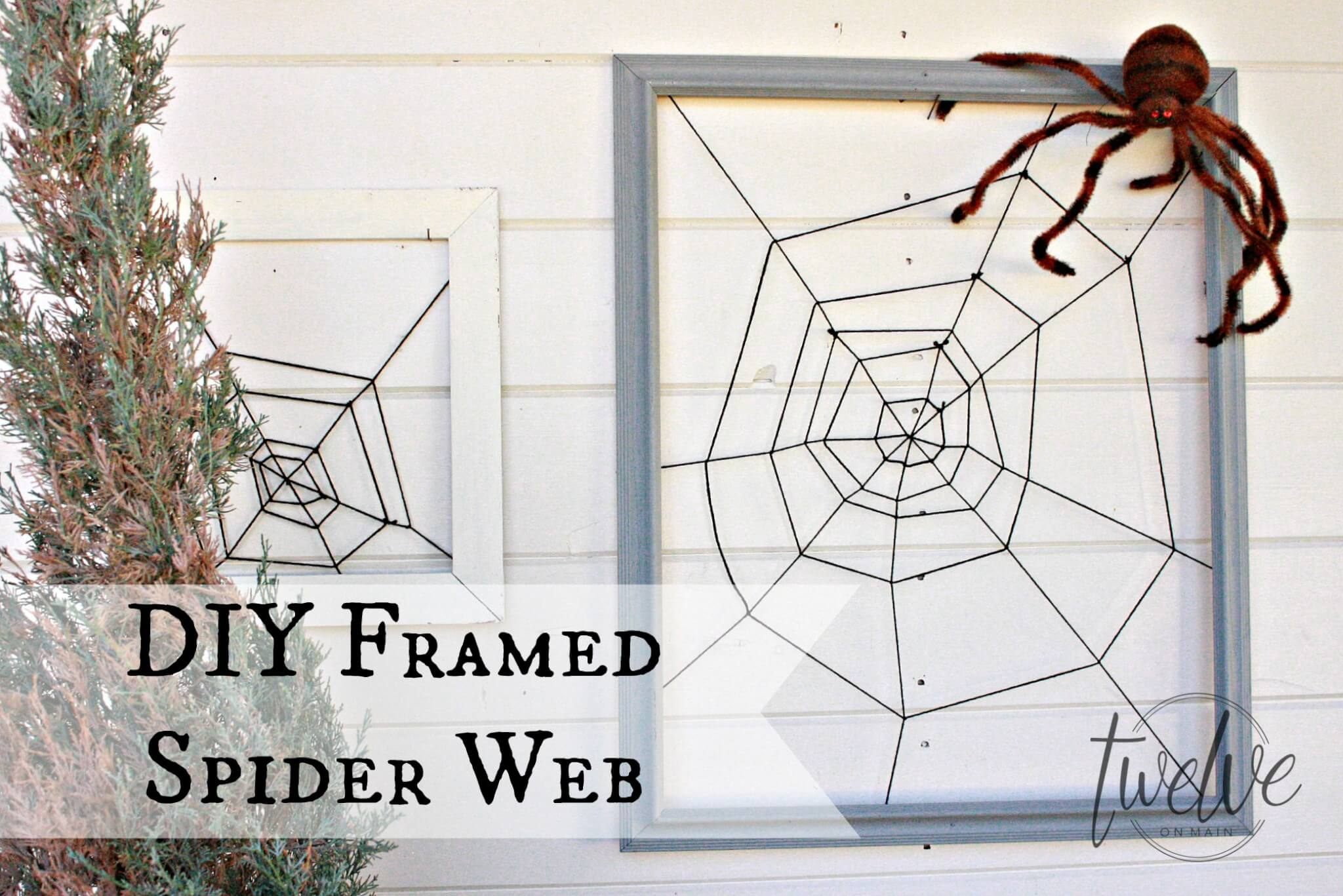 DIY Framed Spider Web