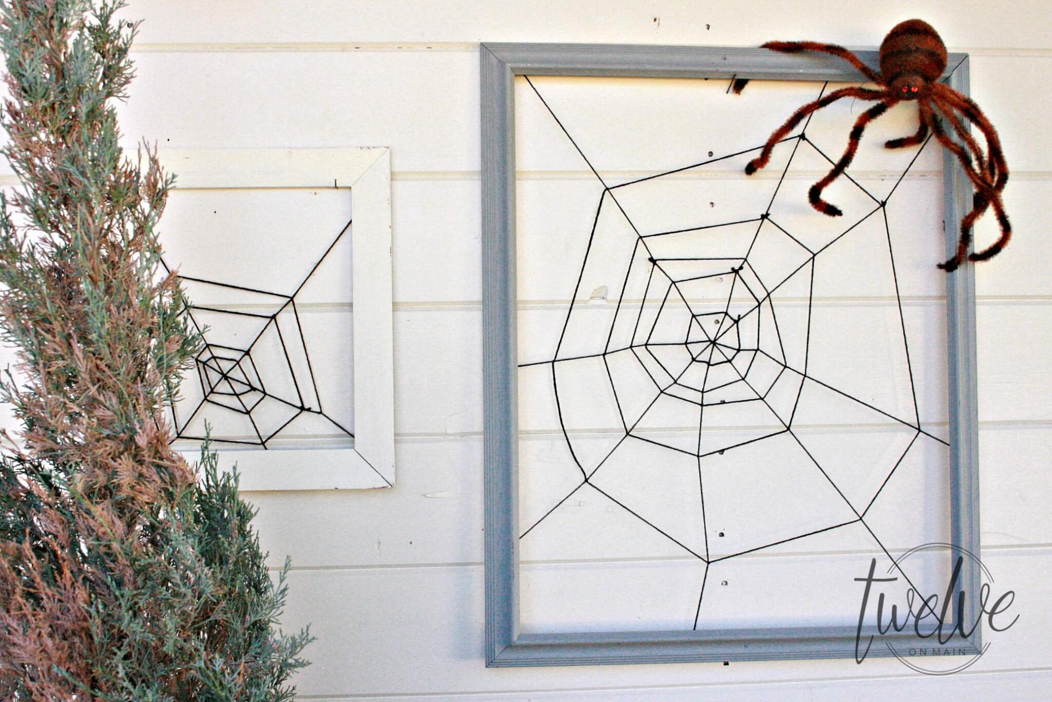 DIY Framed Spiderweb