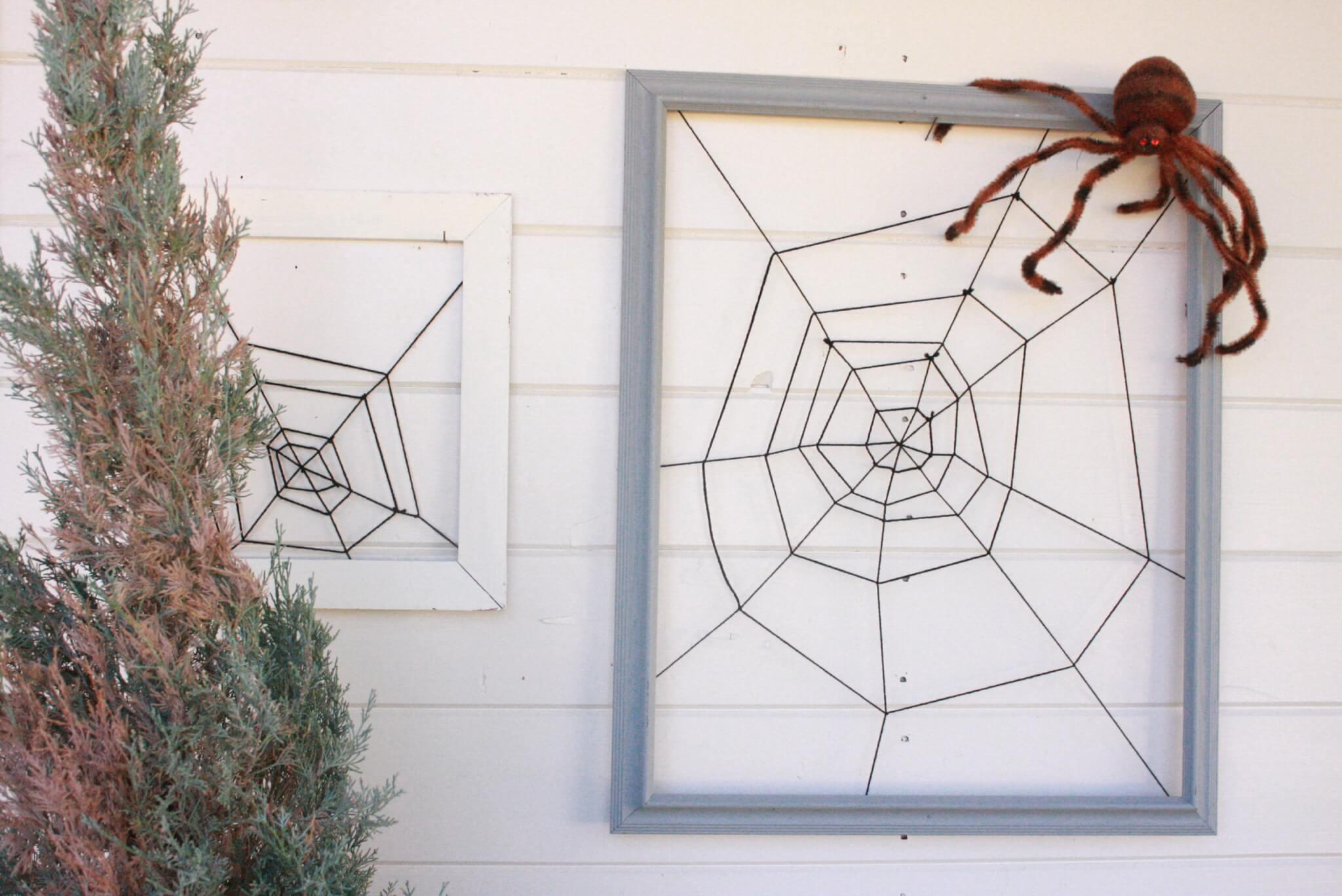 DIY Framed Spiderweb
