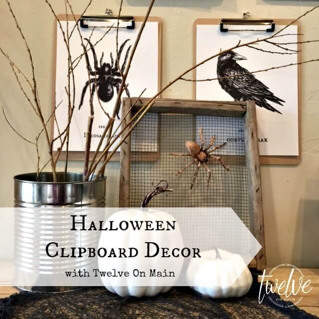 Halloween Clipboard Decor