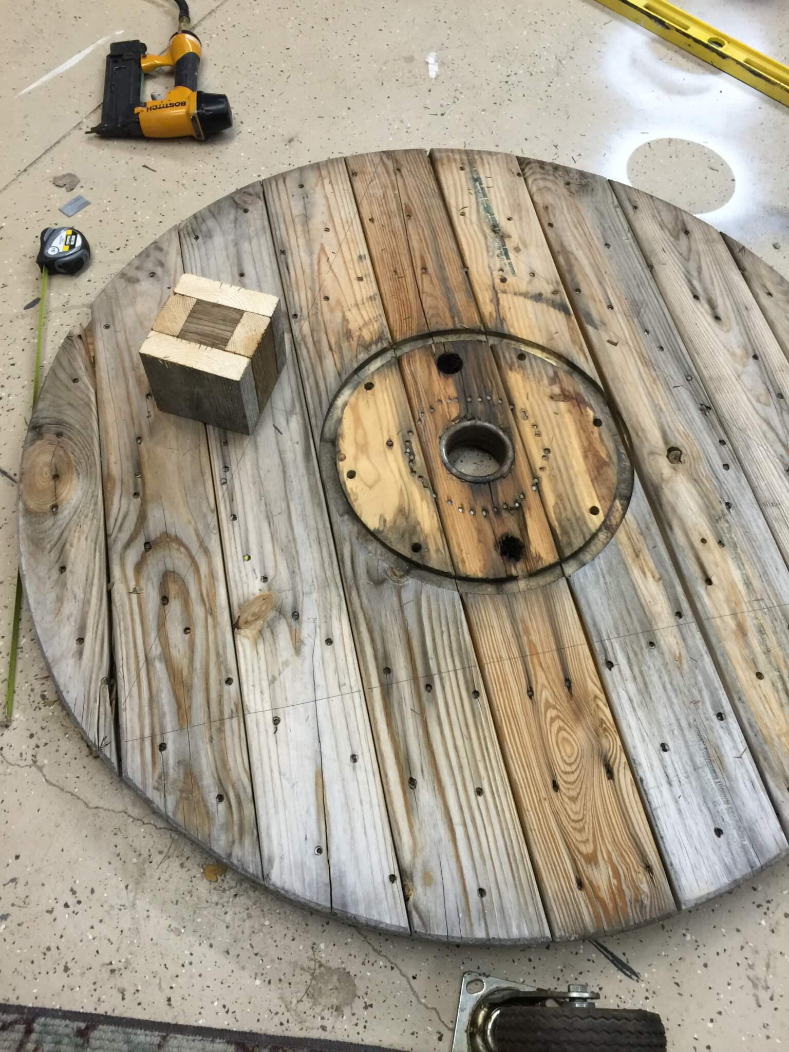 DIY Wire Spool Coffee Table