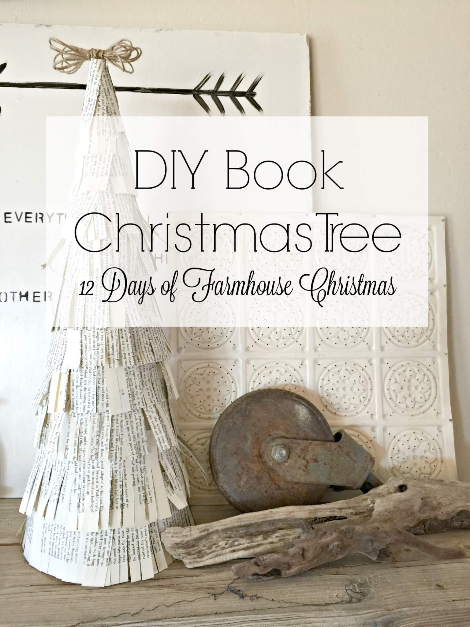 DIY Book Christmas Tree
