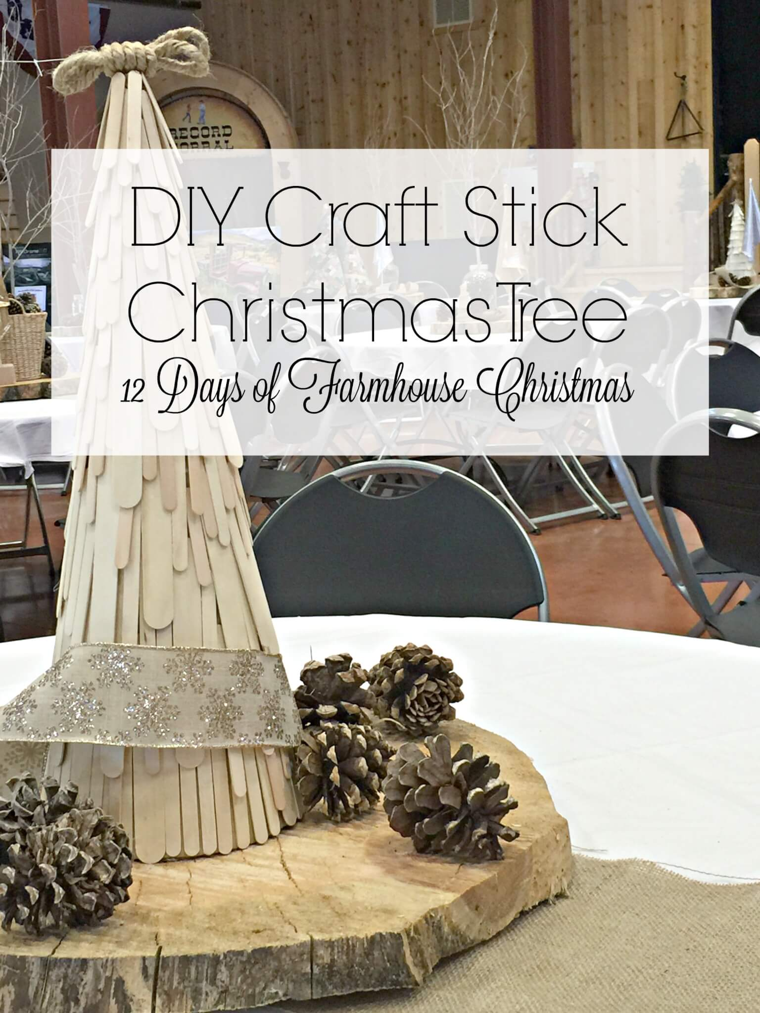 DIY Craft Stick Christmas