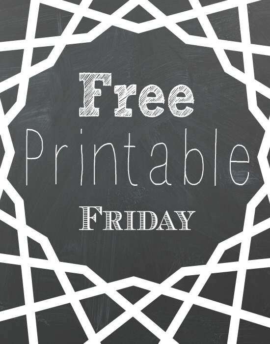 Free Valentine Printables-  Free Printable Friday