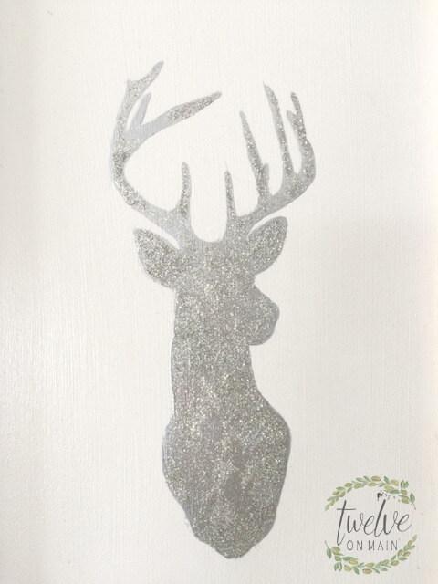 Glittery Deerhead Art