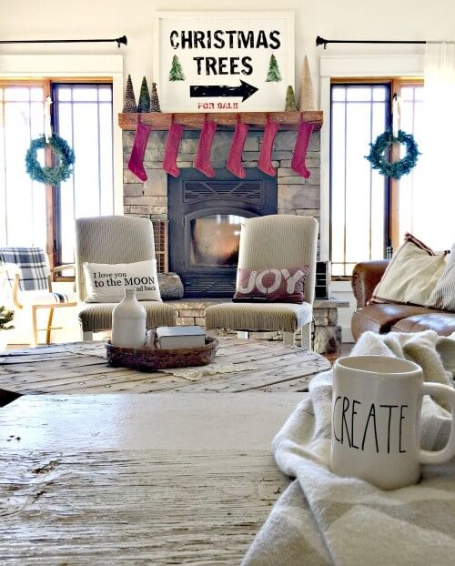 woodland farmhouse christmas