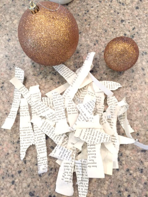 Re-purpose Old Ornaments With A Book