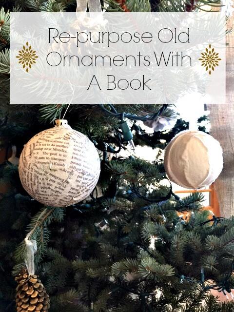 Re-Purposed Book Ornaments