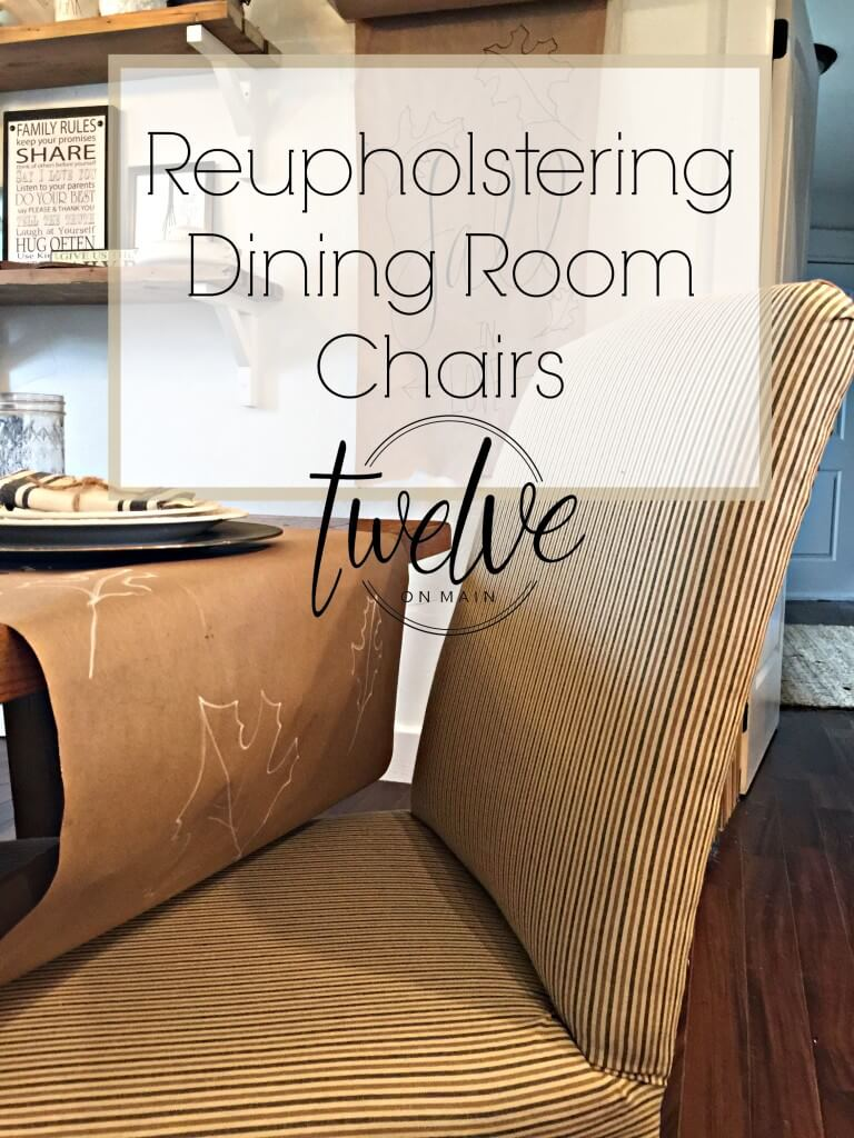 Reupholstering dining room chair