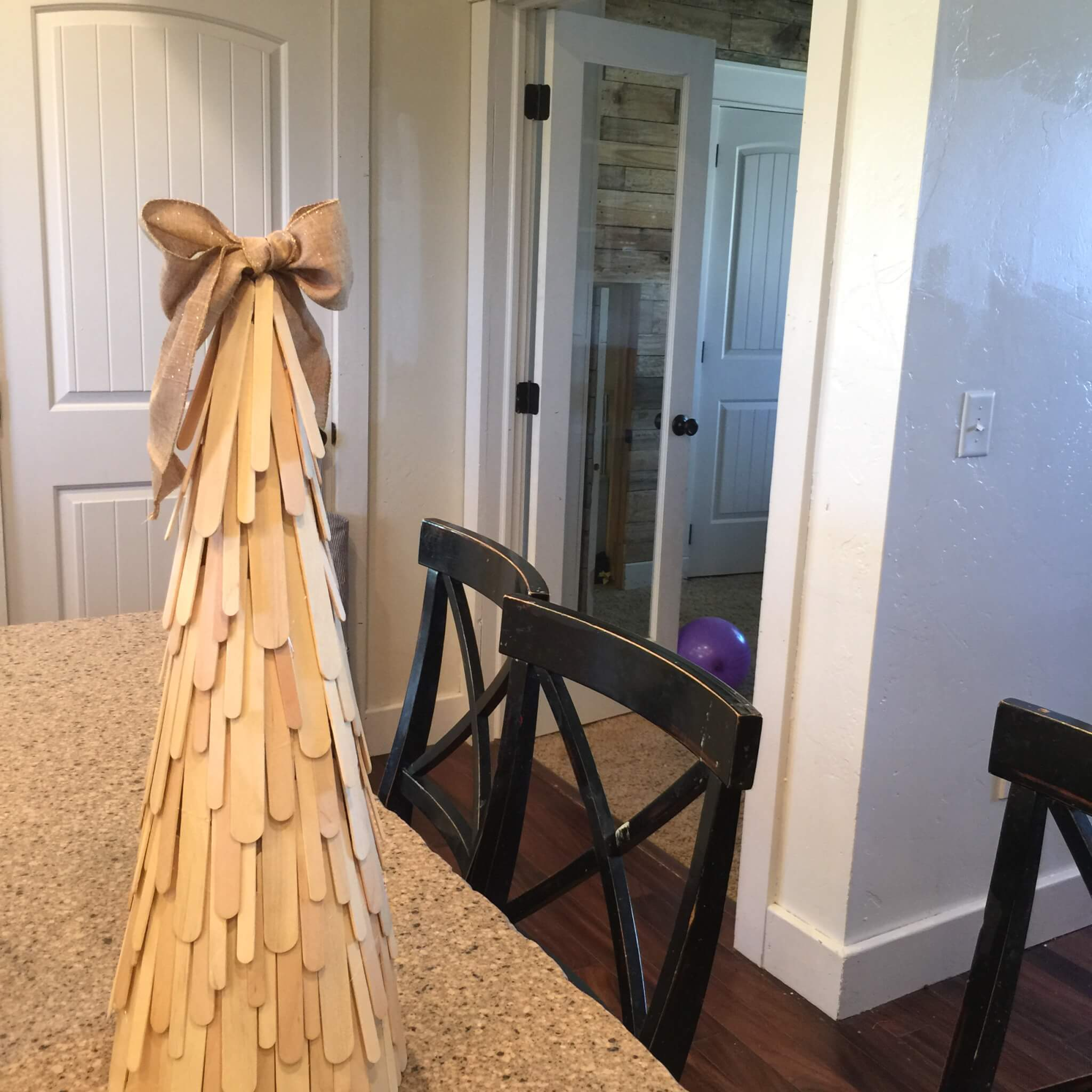 DIY Craft Stick Christmas Tree