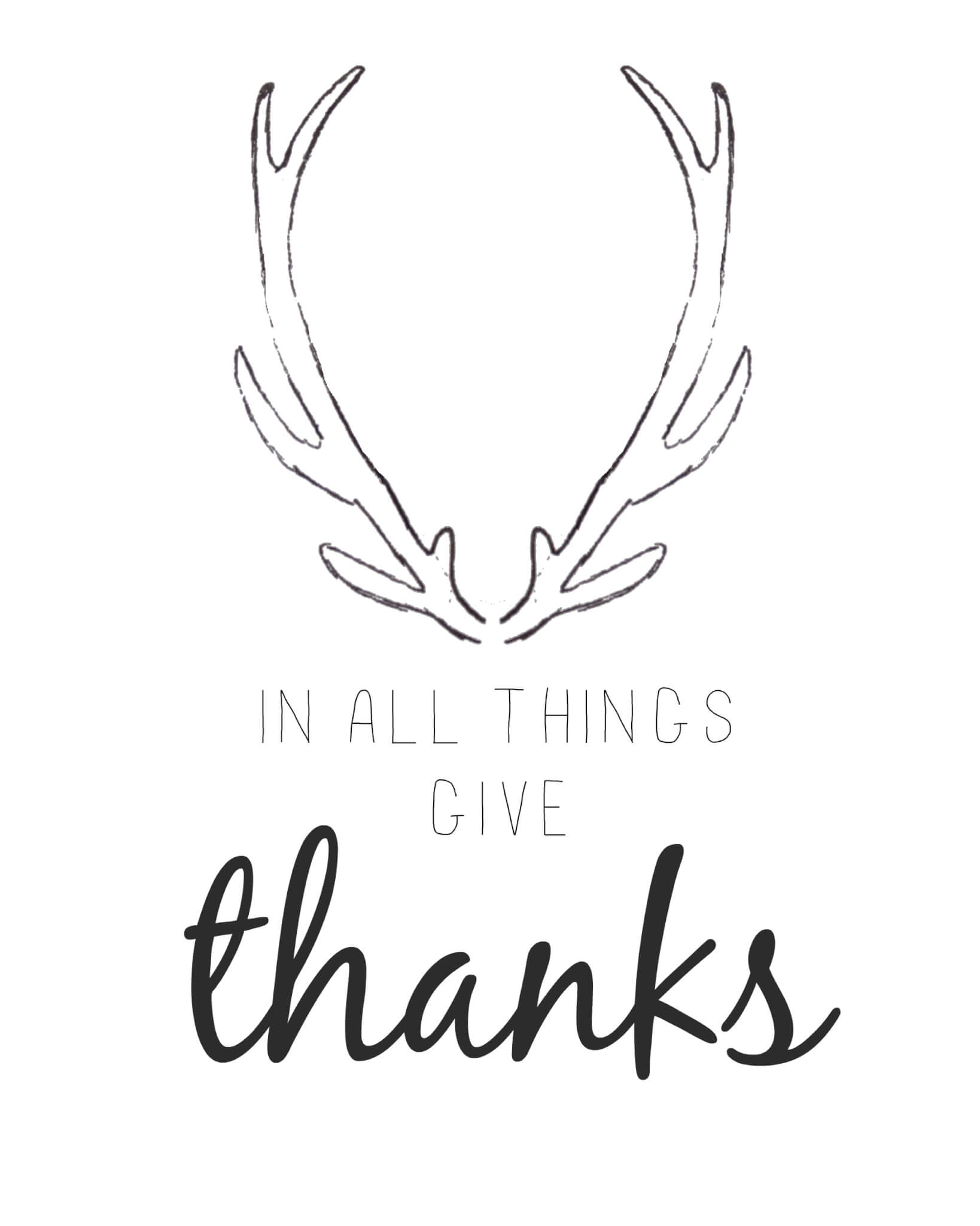 Free Printable Friday- Give Thanks Printable