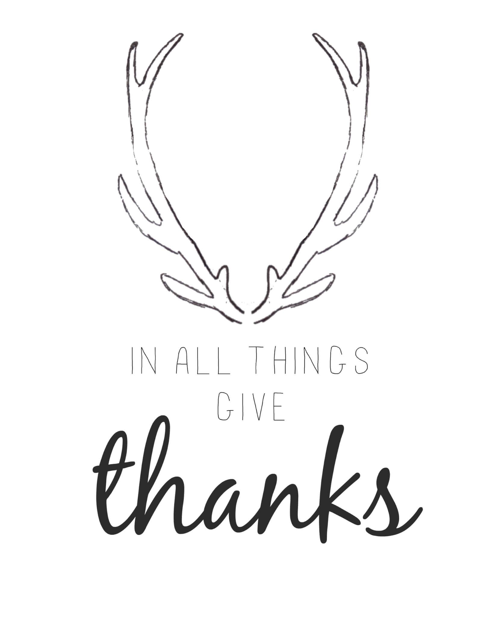Free Printable Friday- Give Thanks Printable