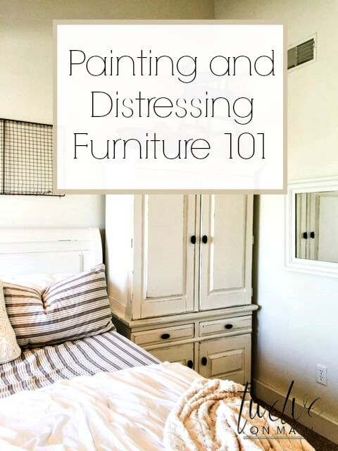 Painting and Distressing Furniture