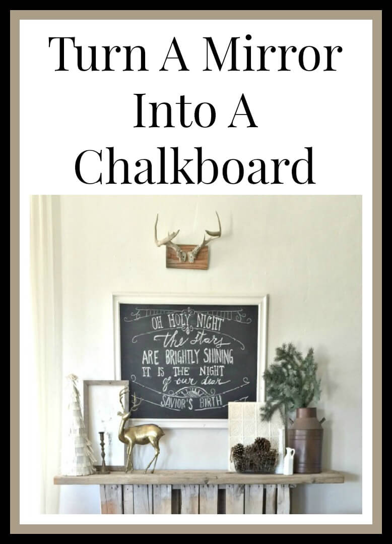 A mirror chalkboard?? Awesome!| Twelveonmain.com