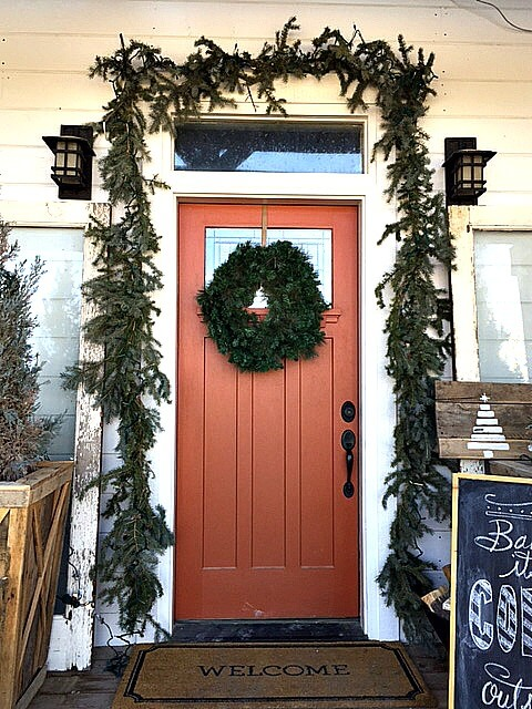 Woodland Farmhouse Christmas Porch Tour
