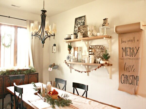 A Farmhouse Chrsitmas Dining Room Tour