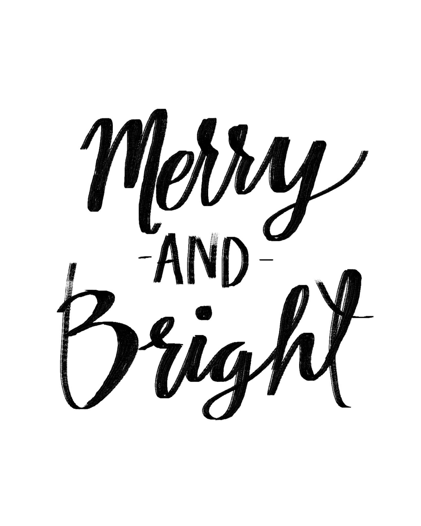 Merry and Bright – Free Printable