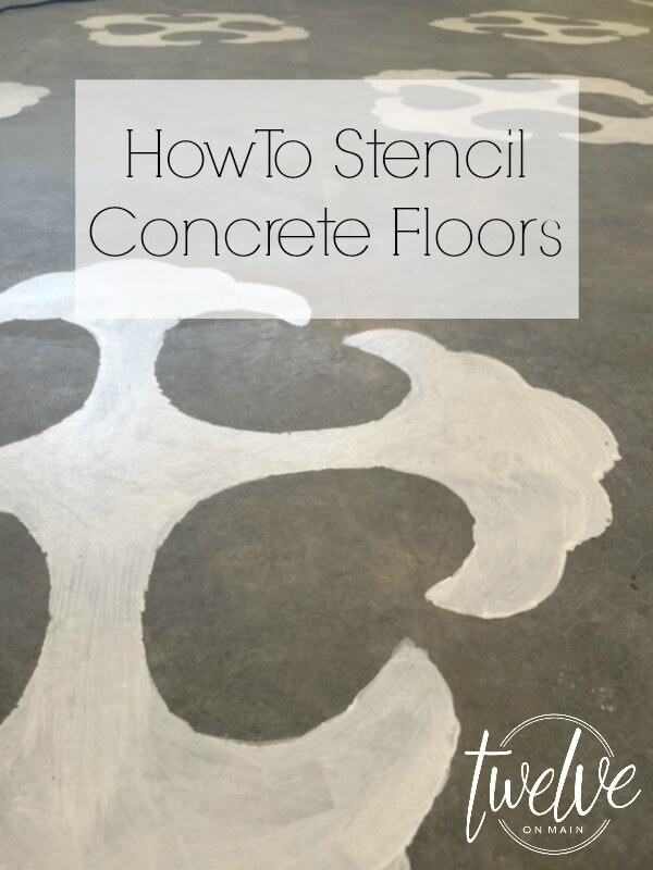 How To Stencil A Concrete Floor!