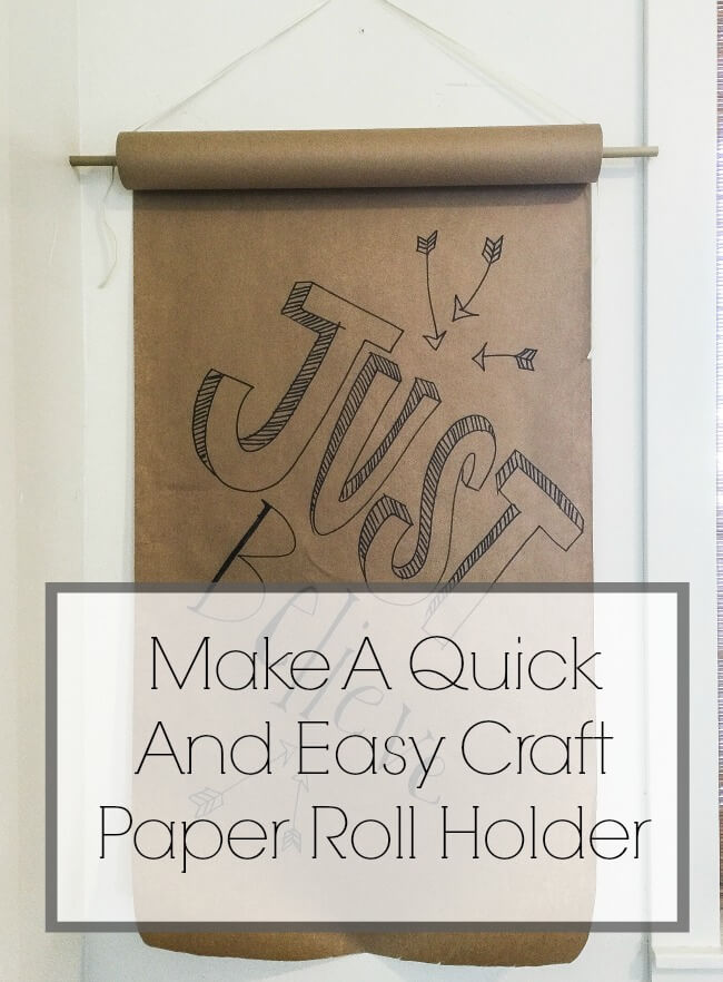 Make A Quick And Easy Craft Paper Holder