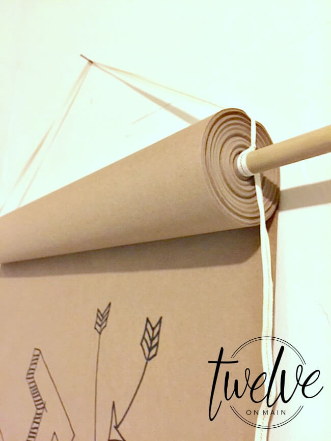 Make a quick and easy craft paper roll mount