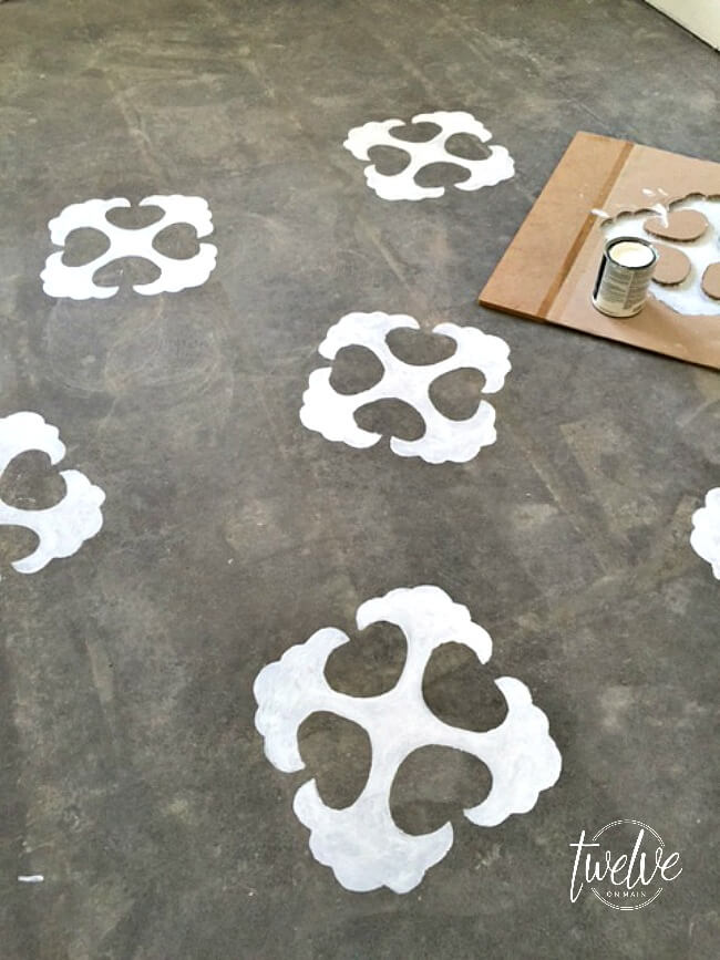 How to Stencil Concrete Floors