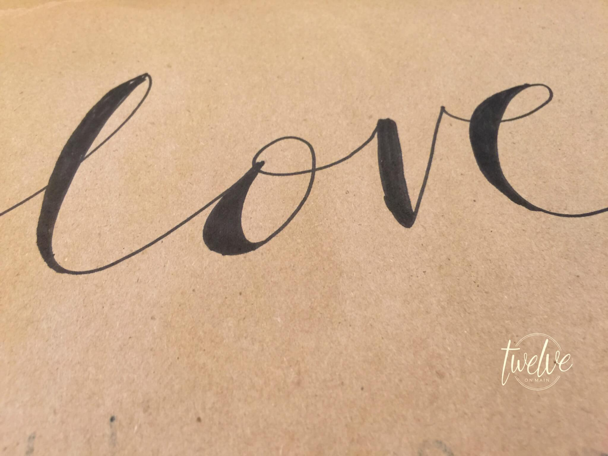 Valentines Butcher Paper Art How To