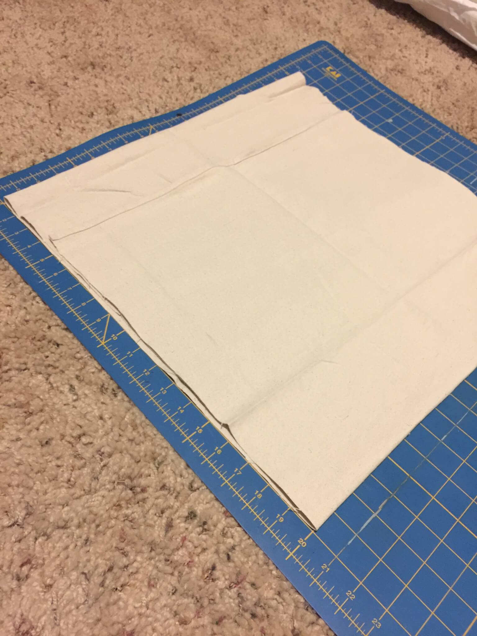 How to sew a canvas dropcloth envelope pillow cover. | Twelveonmain.com