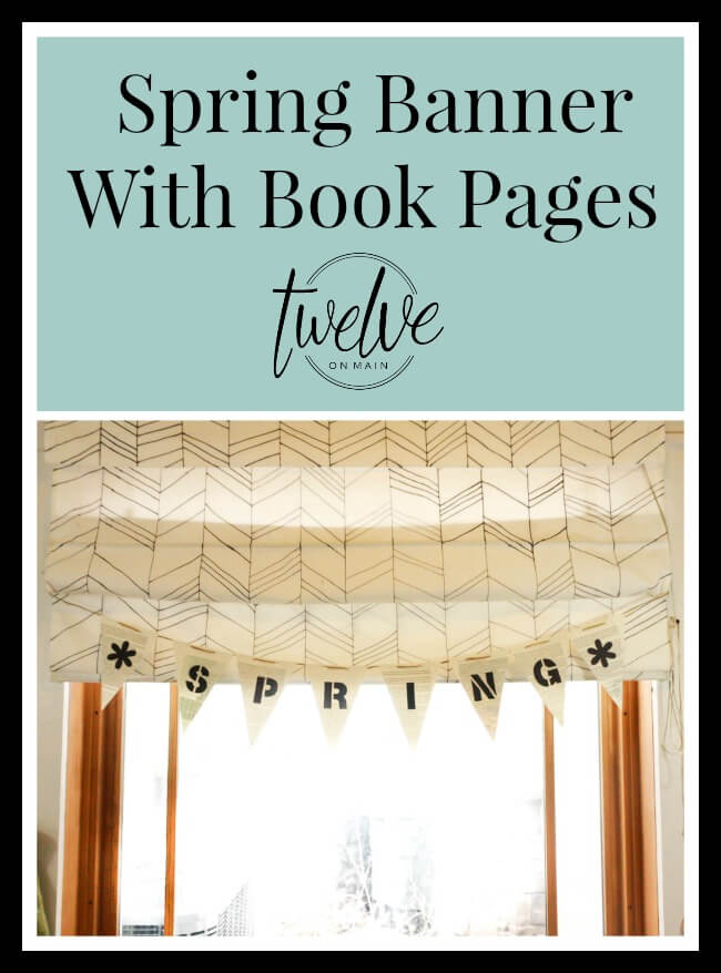 Spring Banner With Book Pages