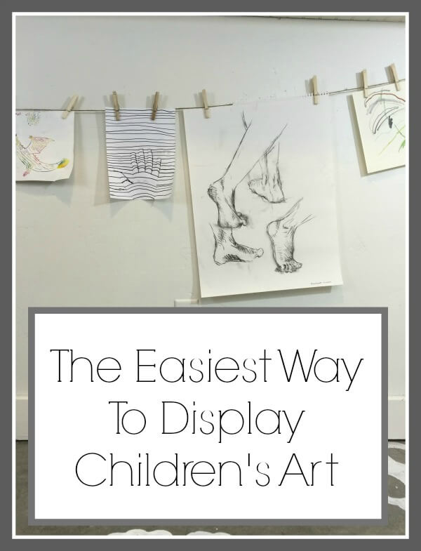 The Easiest Way To Display Children's Art
