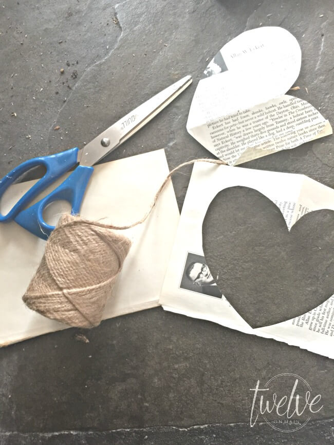 Make this crinkle cut Valentines heart swag in minutes! | twelveonmain.com