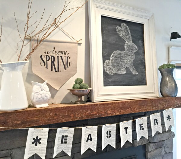 Easy book page Easter banner.  Its a must. |  Twelveonmain.com