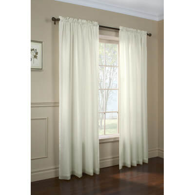 Thermalogic Rhapsody Lined Voile Curtains