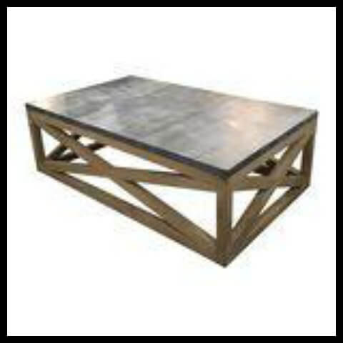 Custom Coffee Table with Metal Top |Twelveonmain.com