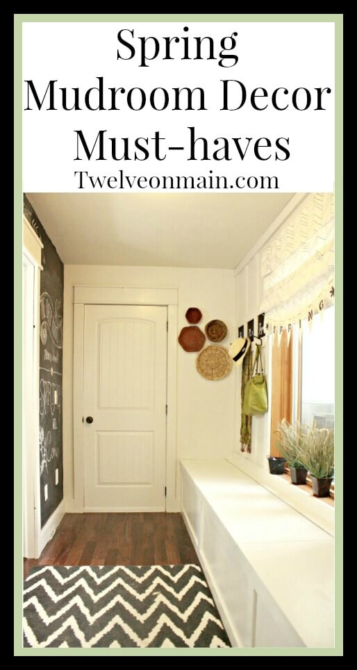 Spring mudroom decor for a fresh farmhouse look. | Twelveonmain.com