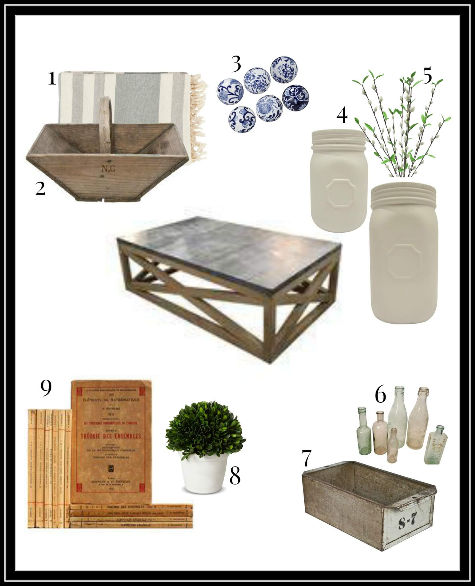 Create a fantastic farmhouse industrial style coffee table with these ideas! | Twelveonmain.com